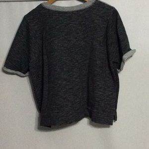 Mossimo Supply Co. Sweaters - Mossimo short sleeve black & gray knit sweater 2X